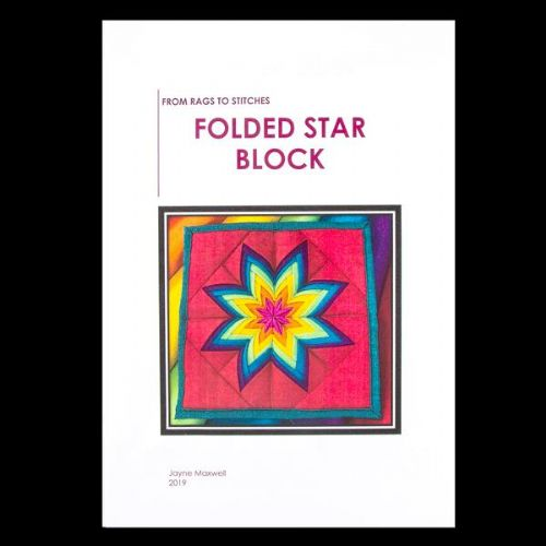 From Rags To Stitches Folded Star Block Sewing Pattern